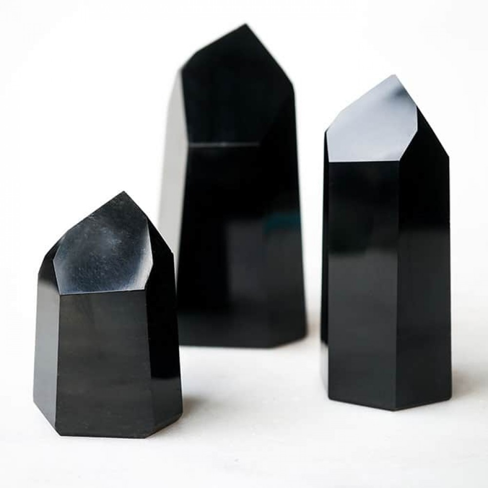 Black Obsidian  Stone is a powerful cleanser of psychic smog created within your aura, and is a strong psychic  protection  stone. This stone has powerful metaphysical properties that will help to shield you against negativity.