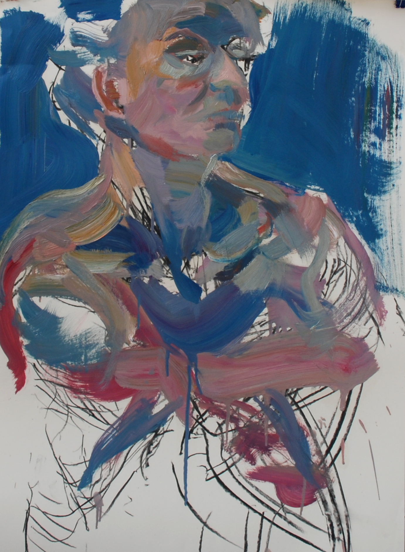 Elina Aho, From Series In-Between, 2012, charcoal, oil on paper, 84 x 59 cm.png