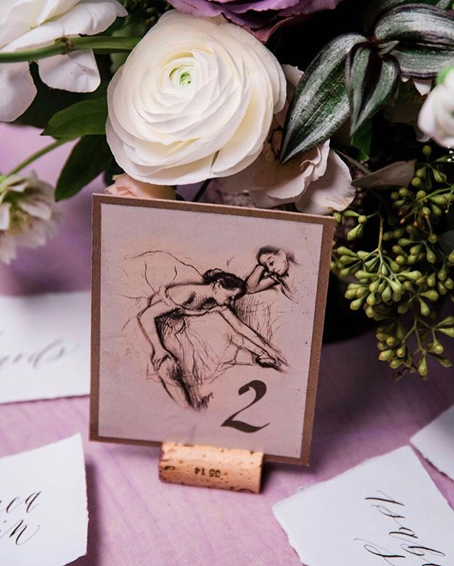 The ballet bridal style shoot inspiration came from Degas's dancers. I was inspired to create place cards with his beautiful sketches. Ever so pretty calligraphy from @pinyaletters flowers @flowersbyliza styleblogger #weddingflowers #wedding #shesaidyes #weddingphotography #realweddings l #weddingplanning #weddingcake #weddinghair #torontoweddingphotographer #torontophotographer #torontobrides #toronto #nikon #engaged #weddingphotography ##naturallightphotography #weddingdress #bohowedding #torontowedding #torontoweddingphotographer #bride #brightandairy #weddingcake #nikoncanada #nikond750