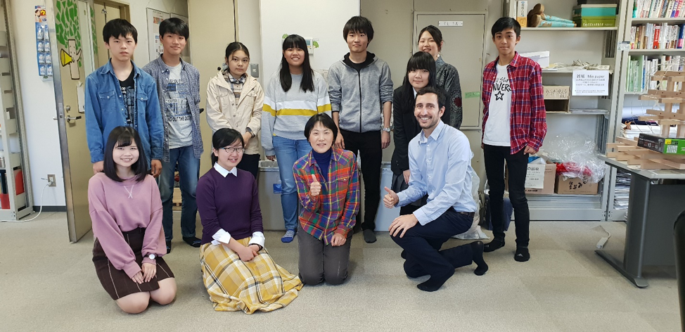 Professor Misuzu Asari and one of her classes of students interested in sustainability.