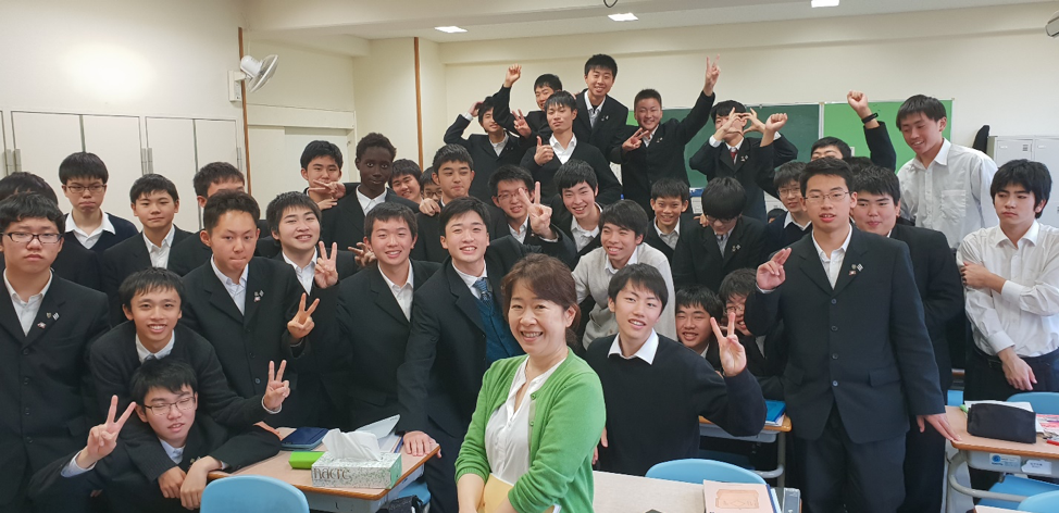Professor Kato and one of her classes of mechanical engineers