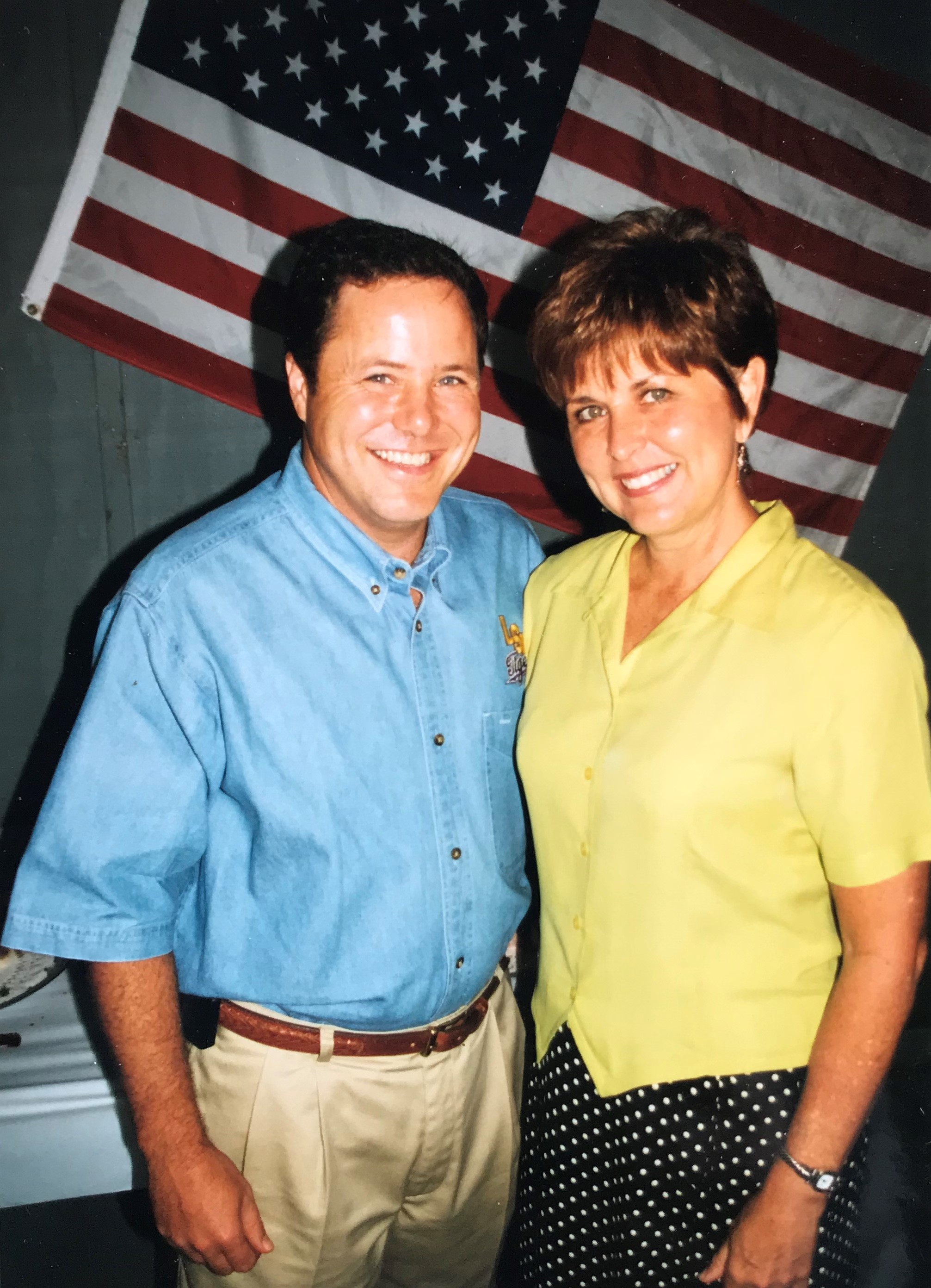 Mark and Leadership co-founder Diane Winston, ca 1995