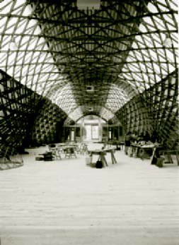 The Jerwood Gridshell space