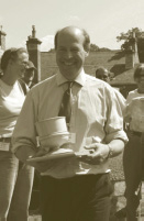 Henry Birch with the wassail bowl for lord home at The Hirsel