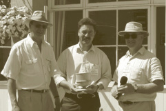 Lewis Scott, Andy Wiseman and Peter Goodwin at Bowhill