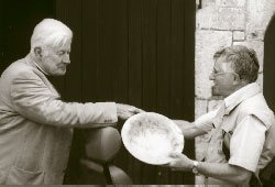 Trustee Roger Venables presents John Workman with his Burr Yew Bowl