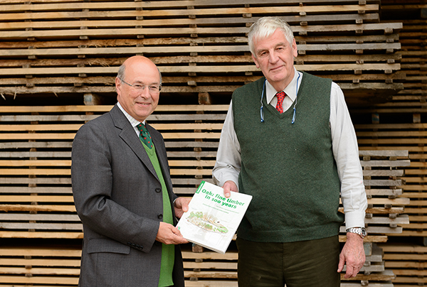 Lord Gardiner receiving publication from Miles Barne