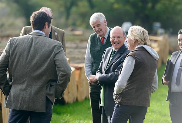 Lord Gardiner sharing a joke with Sally Goodwin
