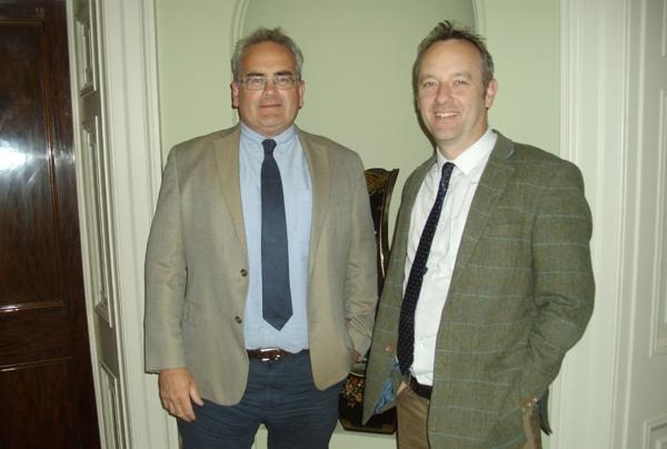 (L-R) Geraint Richards and Graham Taylor
