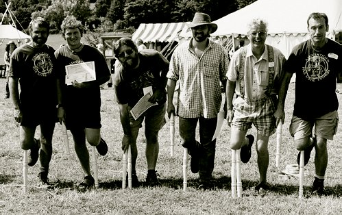 Left to right: Mike Abbott, Ben Orford, Olvin Smith, Malcolm Lee, Tim Steele and Mike Ashton