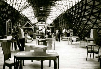 The magnificent furniture display by members of the WCFM in the Gridshell