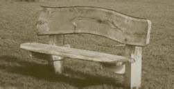 The end product home milled oak boards can be made into on-site features, such as this Oak Bench used in the country park