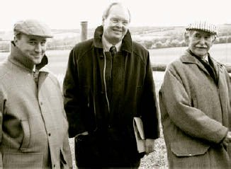 Paul Lindon of Smith Woolley (managers of the estate) joins Lewis Scott (centre) and Walter for the opening ceremony.