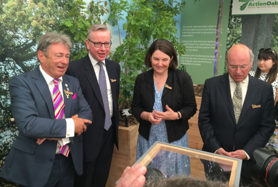 Action Oak was launched at RHS Chelsea Flower Show 2018 by Biosecurity Minister Lord Gardiner.