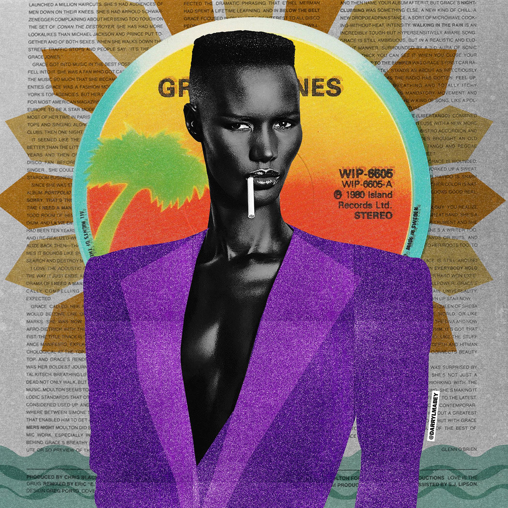 GRACE JONES - POP ART / DIGITAL COLLAGE