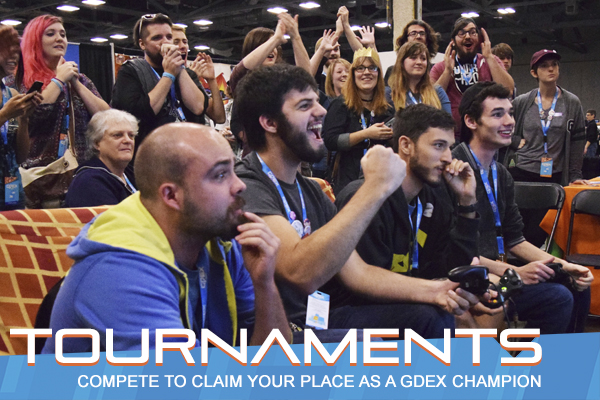 Saturday 9/29 & Sunday 9/30   Want to prove you have what it takes to  compete ? Maybe you just want to game with friends for a  fun round of gaming . Either way, GDEX has plenty to do all weekend long in our  Tournament and Freeplay  area.