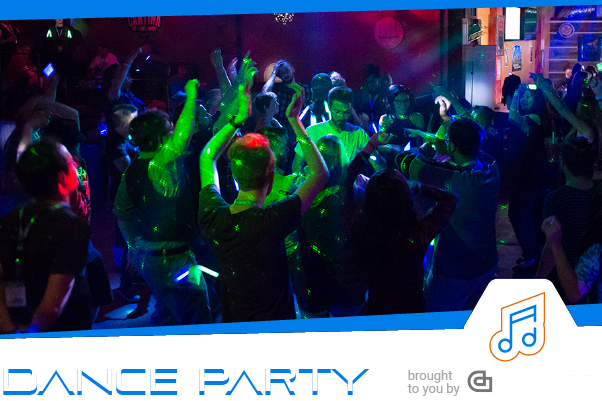 Saturday 10/12 | 8pm - 11pm   It wouldn't be GDEX with out our  Saturday Night Dance Party . Cut lose after a long day at the expo by getting your dance on with your friends. Always free and a blast, but tickets are limited so grab yours as soon as you can.