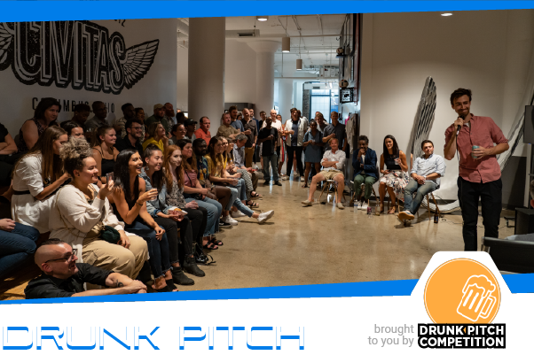 Saturday 10/12 | 6pm - 8pm   Join us Saturday evening for the  GDEX Drunk Pitch Competition  on Oct 12th, from 6-8 in the Main Theater of the convention center! Food, drinks and some great comedic entertainment provided by your peers. Ever had a gaming (or non-gaming) idea you are convinced would be a great idea but would never actually invest time into creating it? This event is meant to give a chance for people to use their pitching skills to share silly, entertaining game concept ideas.  All are welcome to come pitch or watch *NO SERIOUS BUSINESS IDEAS PITCHED*
