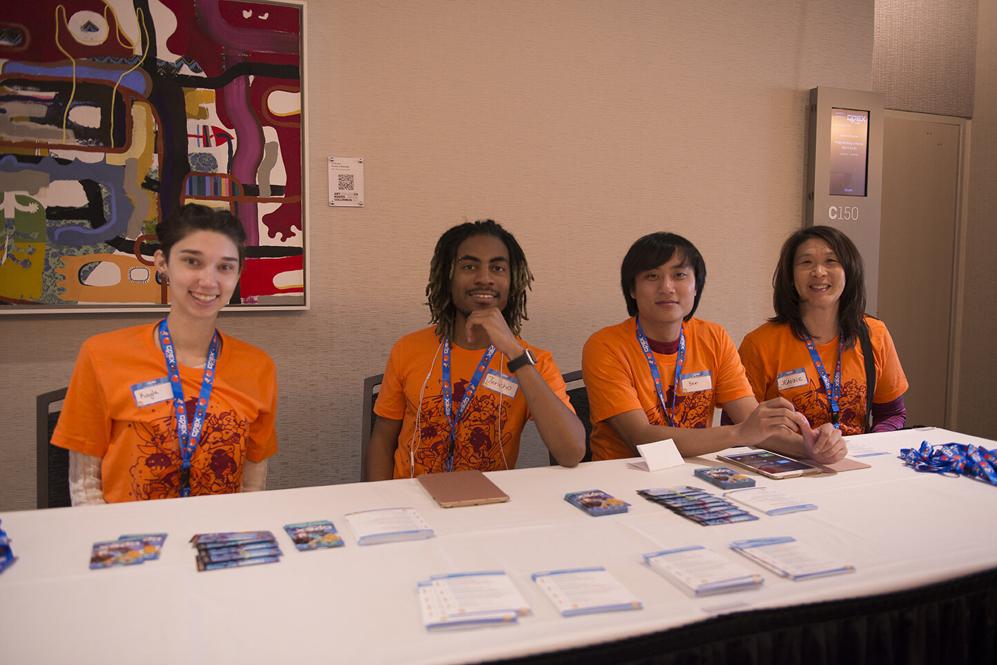 If you ever have any questions, just look for the Orange shirts. They're some of the best volunteers in the business!