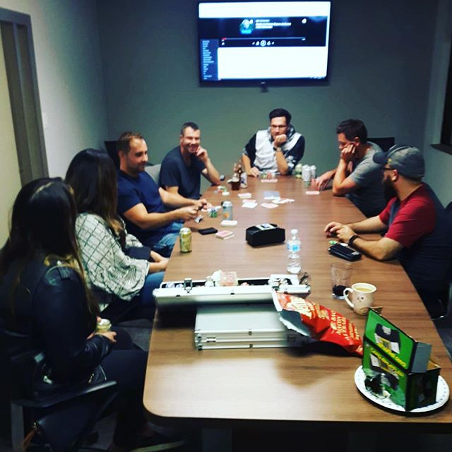 Company games night on a Saturday 👌🏼 #sorryforthelatepost #yeg #yyc #gaming #lanparty #pcgaming #pokernight #boardgames