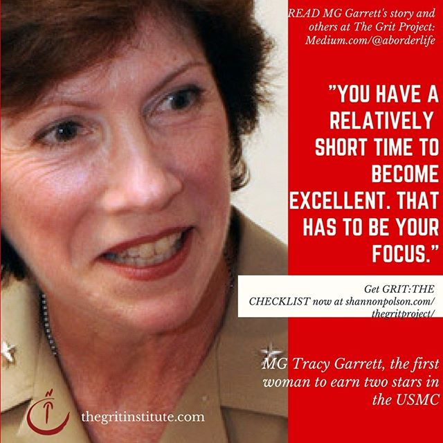 Major General Garrett served as the highest ranking woman in the @usmc Marine Corps. Don't miss her story= and advice- at The Grit Project! #grit #leadership #aviation #military @airforce #women #business #leadershipquotes #fighterpilot #cfpa #justdoit #ownyourgrit #shareyourrgrit #ownit #womenwhorock #challenge #inspiration #motivation