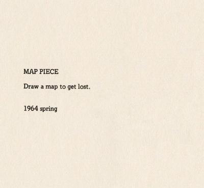 Yoko Ono, Map Piece, 1964