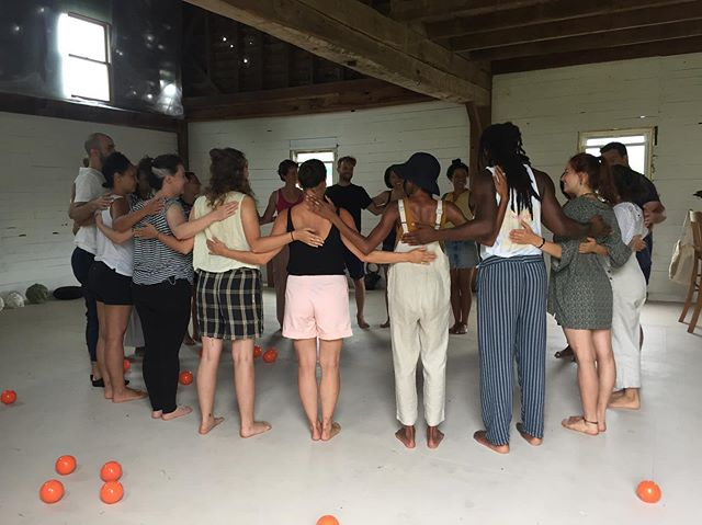 Held our first #franklinmethod class in the barn last weekend - happy, present mindbodyspiritsouls set the festival tone 🕸