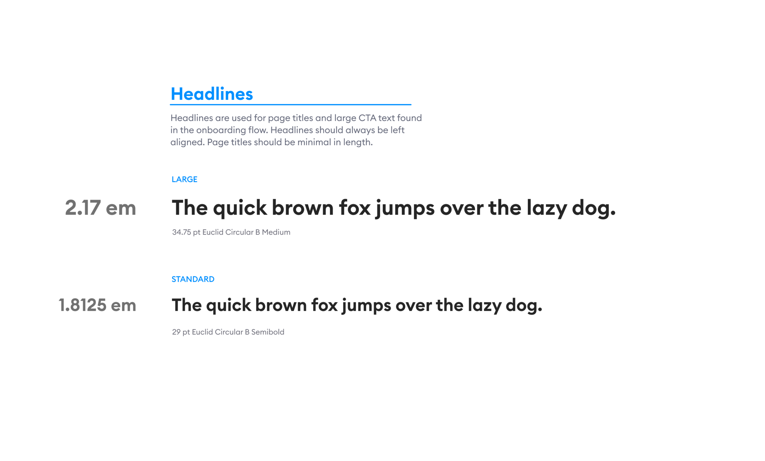 Type, oh. Positive. - To reduce load on the user, we consolidated our type styles into a harmonic set of headlines, body, and captions.