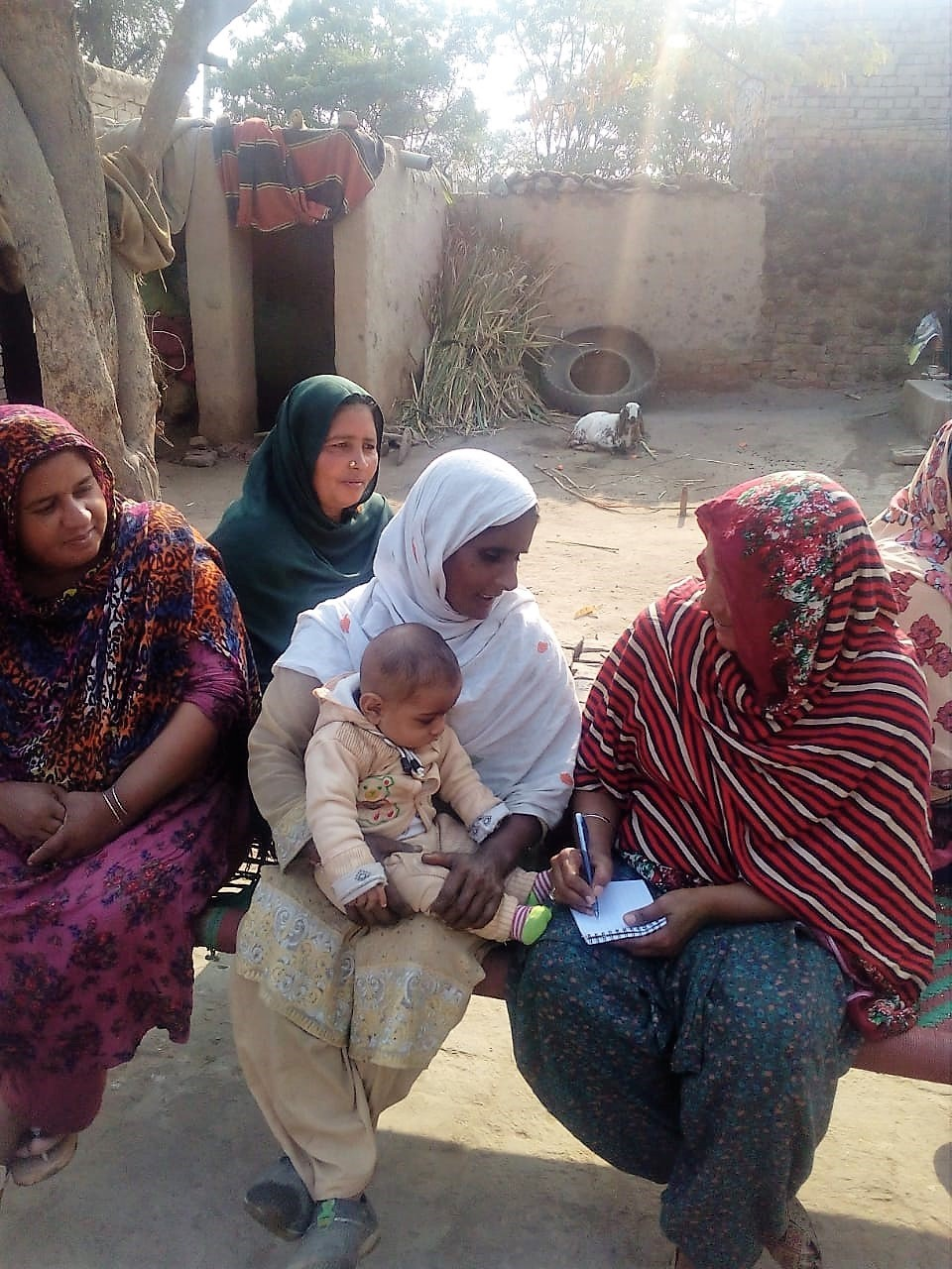 Mobilization_Pakistan_WRA Pakistan_surveyor with small group of women.jpg