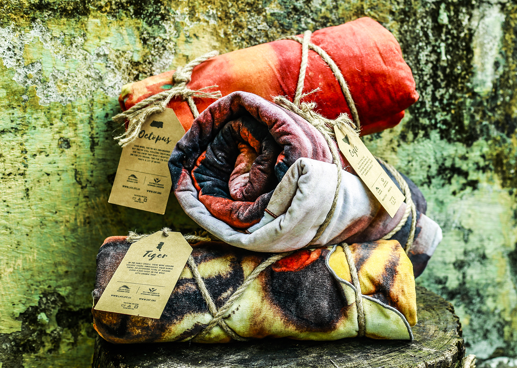 Laylife, towel, octopus, tiger, eagle, spread, blanket, sheet, throw, cotton, environment, dry, thick, watercolor, art.jpg