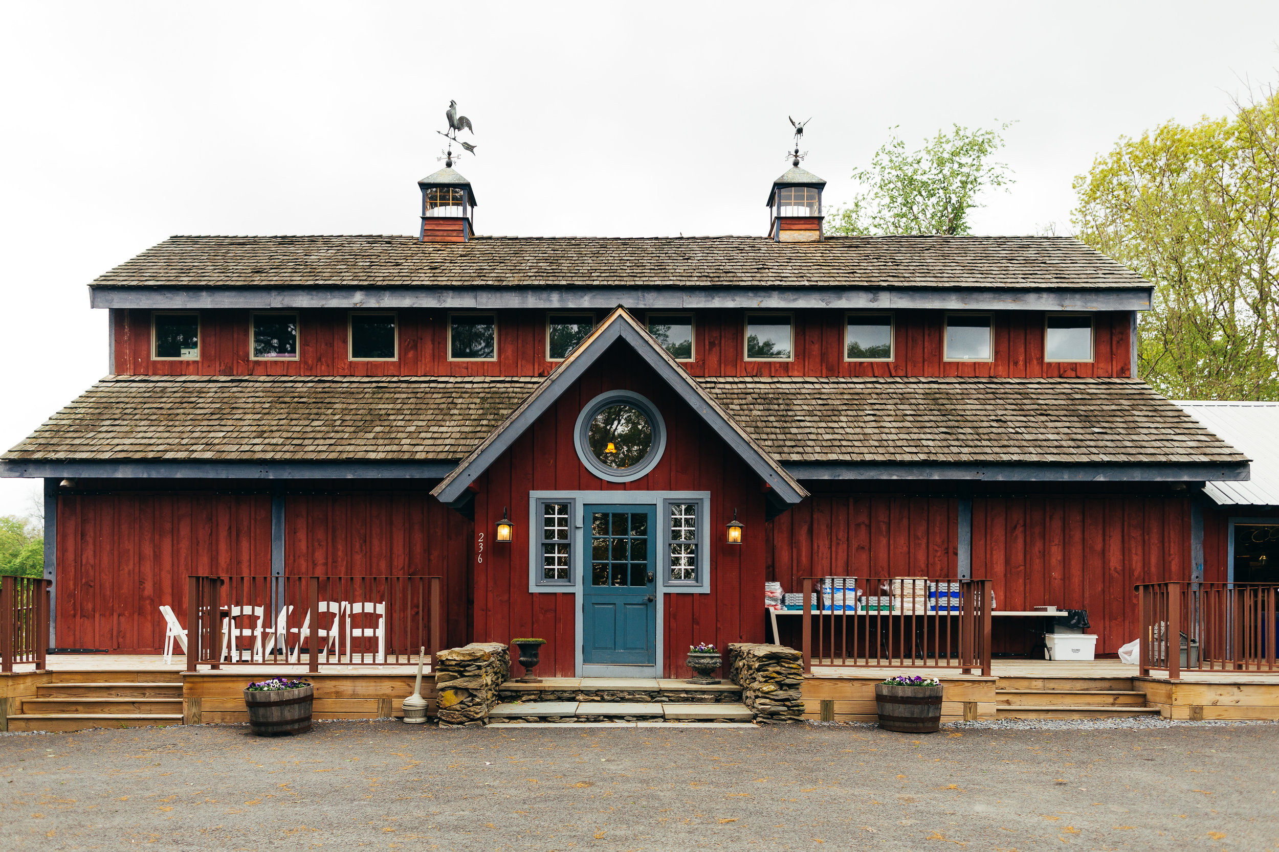 Buttermilk Falls Inn has some awesome scenery, but the highlight of the property is definitely this restored barn that they have, which they were able to use to host the reception after the ceremony. If you are looking for a rustic barn for your same sex wedding in the Hudson Valley, it would be hard to go wrong with Buttermilk Falls Inn.