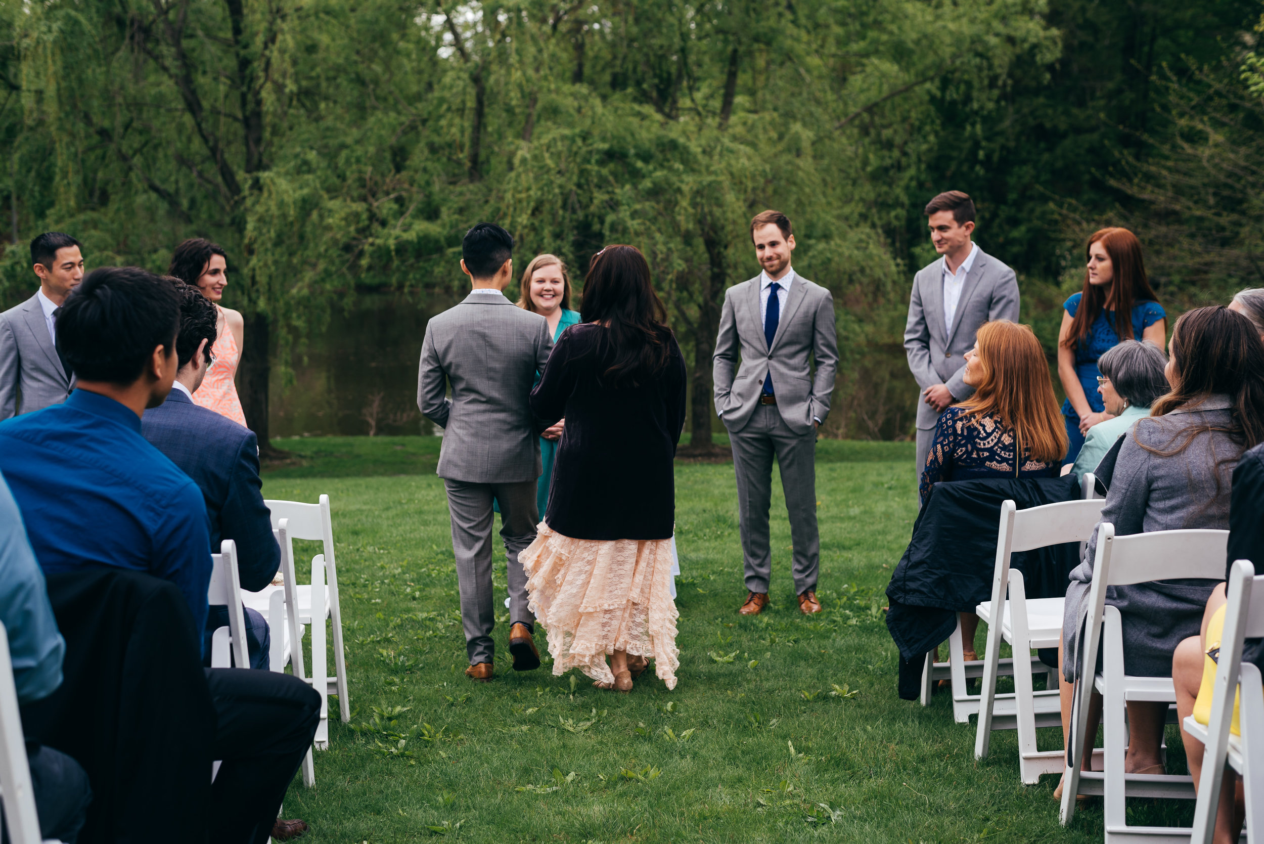 Scenes from Chad and Eddie's same sex ceremony in the Hudson River Valley at Buttermilk Falls Inn.