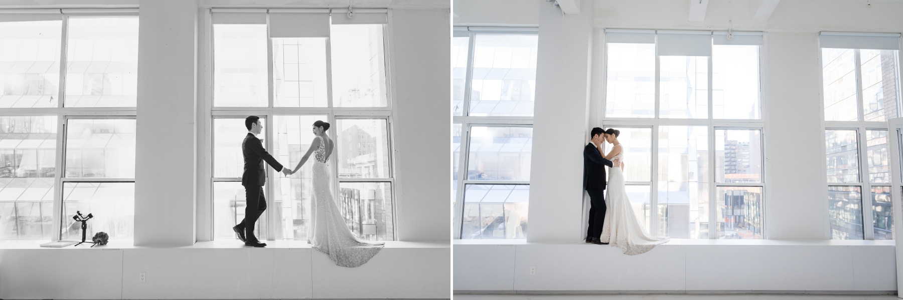 images from my styled shoot, partnering with the following vendors: Jenny Yoo NYC Bridal, AKA Cedric Salon, Mariana Collignon (Makeup), as well as Location05 for our venue, and Gary Feng Videography. Photos were taken first at Cedric's salon, then at Bryant Park, and then finished at Location05. We were able to take beautiful natural, modern wedding style photography with our two models Meghan and Tobee. It's important that your Manhattan, New York, wedding photographer is always pushing himself to consistently grow my skillset and network, to provide the best service for my clients.