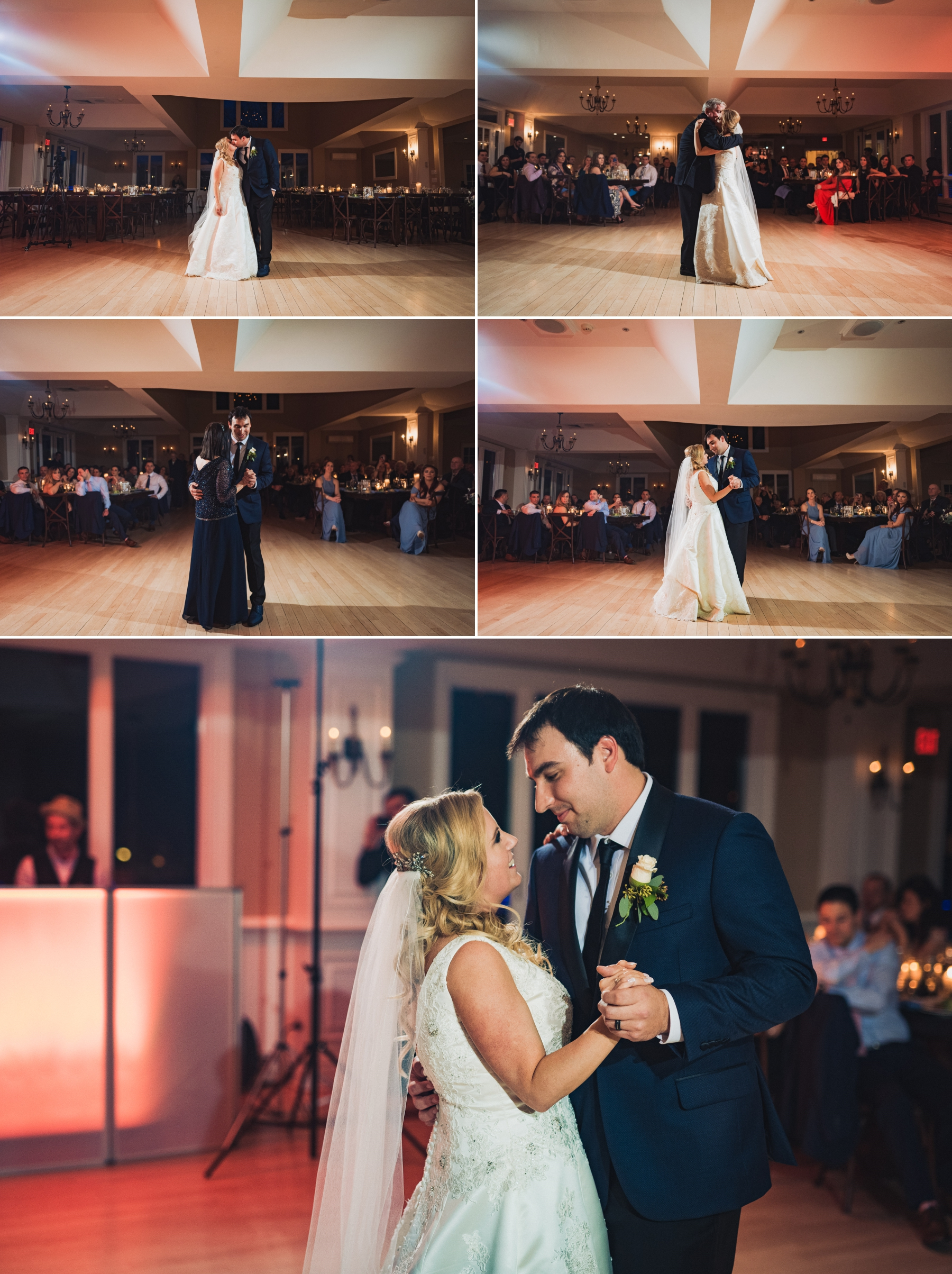First dances, with Tara and Zach, as well as their parents.