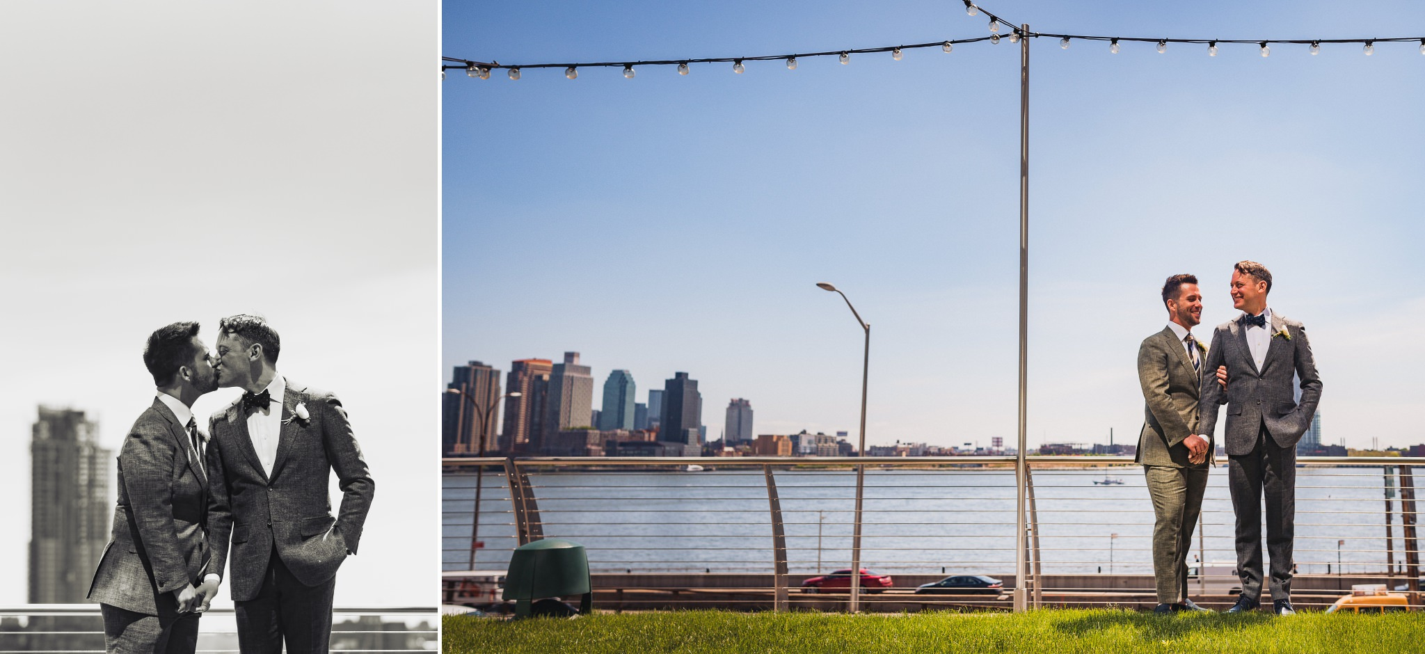 Some more formal portraits from Brian and Scott's New York wedding at Riverpark. We had such a beautiful blue sky, I wanted to incorporate some of that negative space into the images as we were shooting.