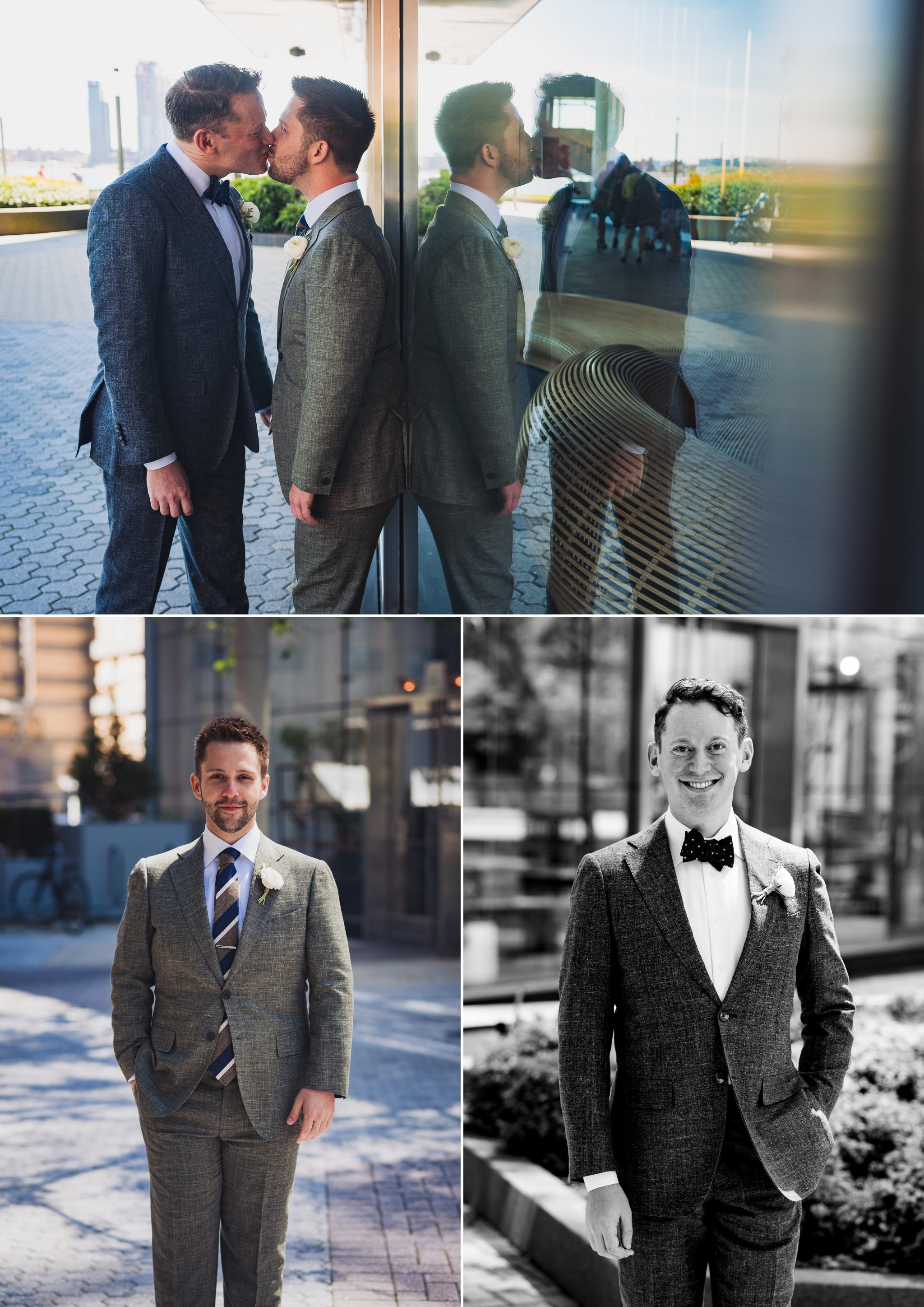 More scenes from Brian and Scott's gay wedding at Riverpark NYC. There's a certain timeless quality to good black and white images, and these were no exception.