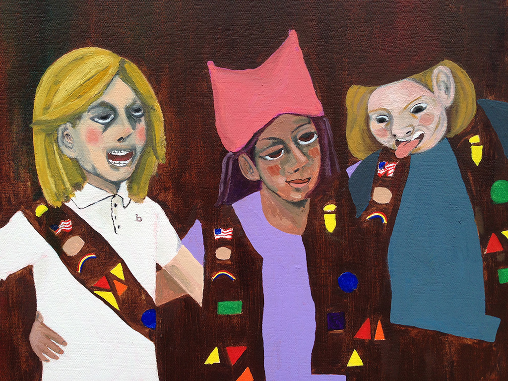 "Detail: ""Brownies, Goofing Off For A Camera, Get Sucked Into A Masterpiece Of Abstraction"""
