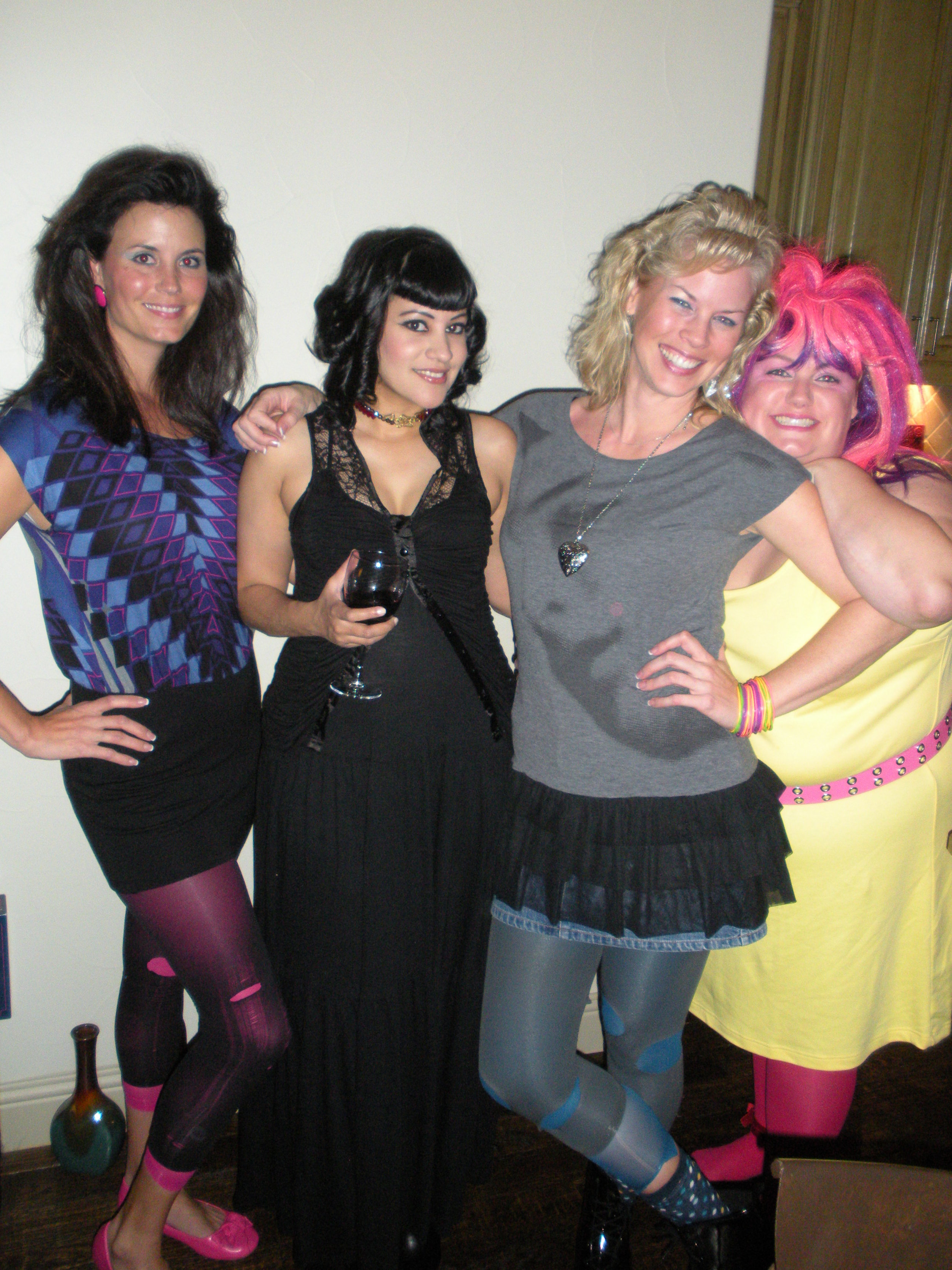 here is a pic of us, dressed like we did back then. yes, the '80's are a thing in the 21st century.