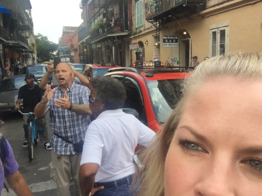 "New Orleans! The most fun ever! This is right before my friends & I confronted this awful, gross, homophobic street ""preacher"" who was spewing hate about homosexuals ***at the gay pride parade!*** His people kept filming. I am probably on      hatefulpretendevangelicalyoutube.com"