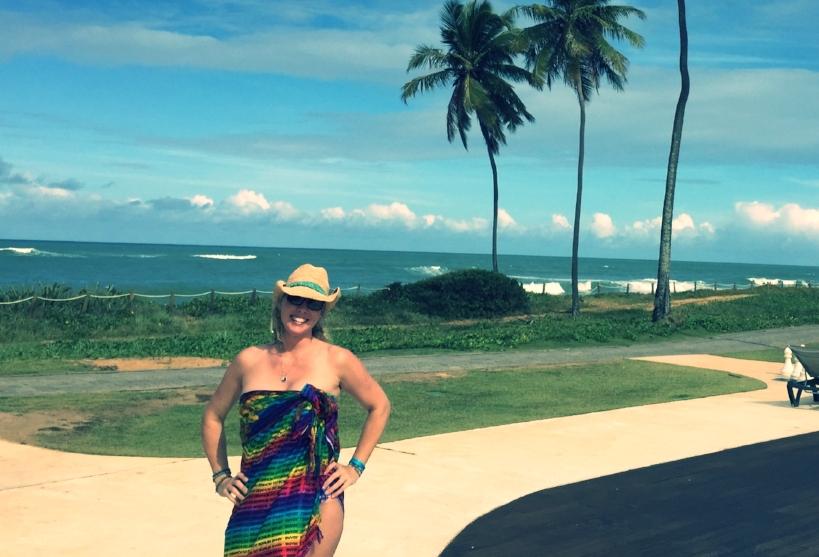 Me, the week before the Rio Olympics, 2016. - Beach. Brasil. Boobs. (Where's the booze?)