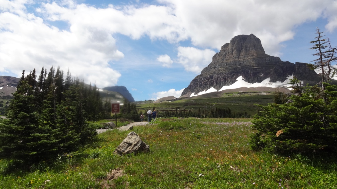 glacier national park. the glaciers are melting.