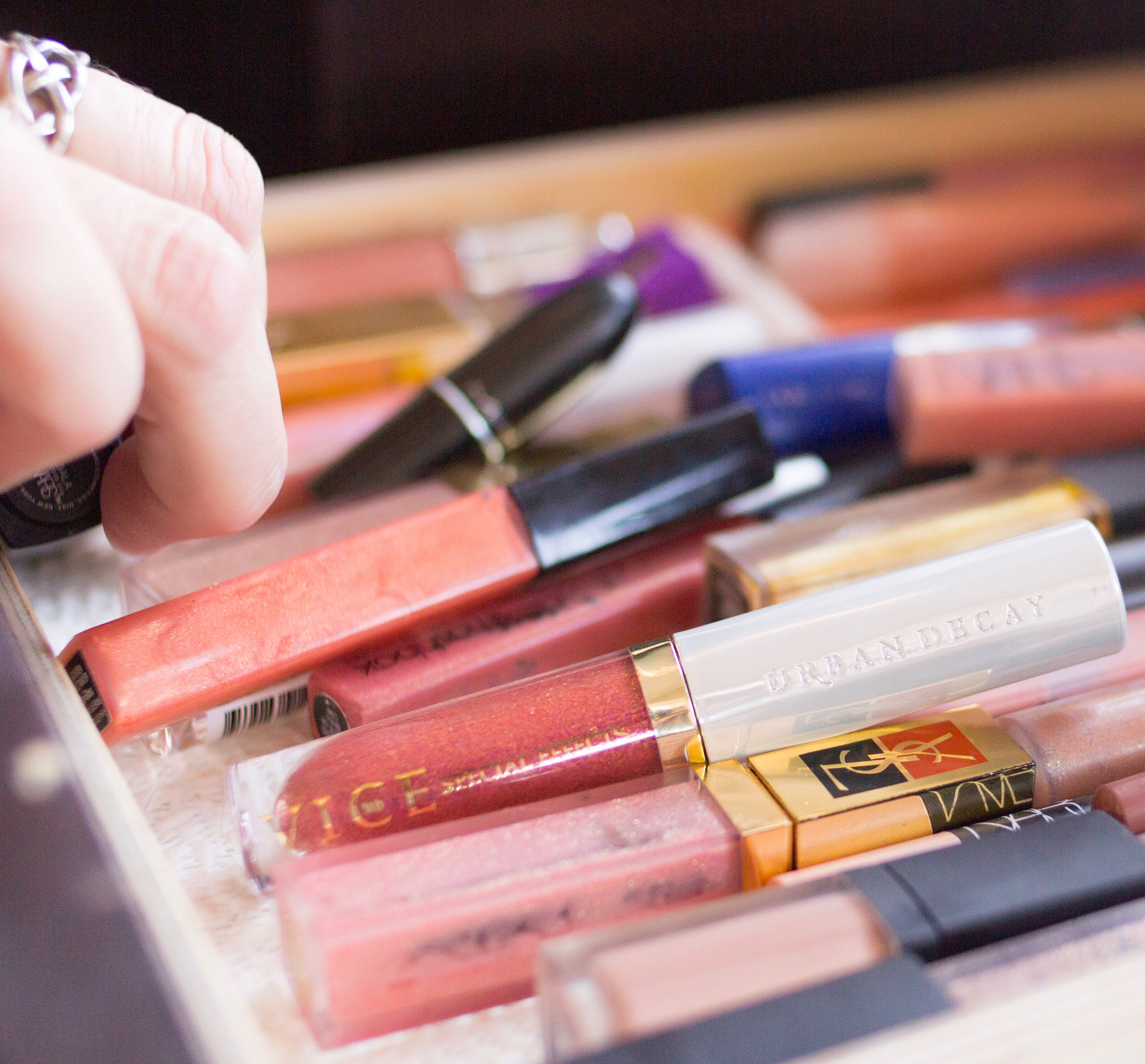 you don't need to bring all 55 glosses.