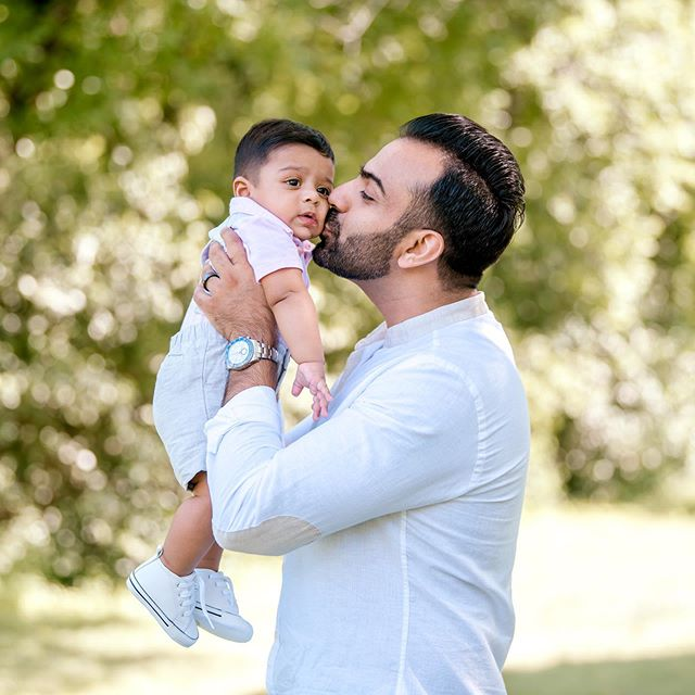 Happy Father's Day Zahan's Super Dad 💙 we love you! #firstfathersday