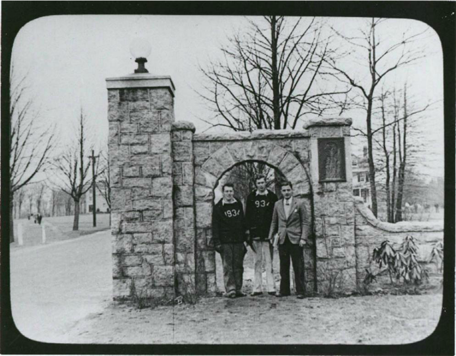 Memorial Gate, University of Rhode Island, 1934  (Courtesy of University of Rhode Island)