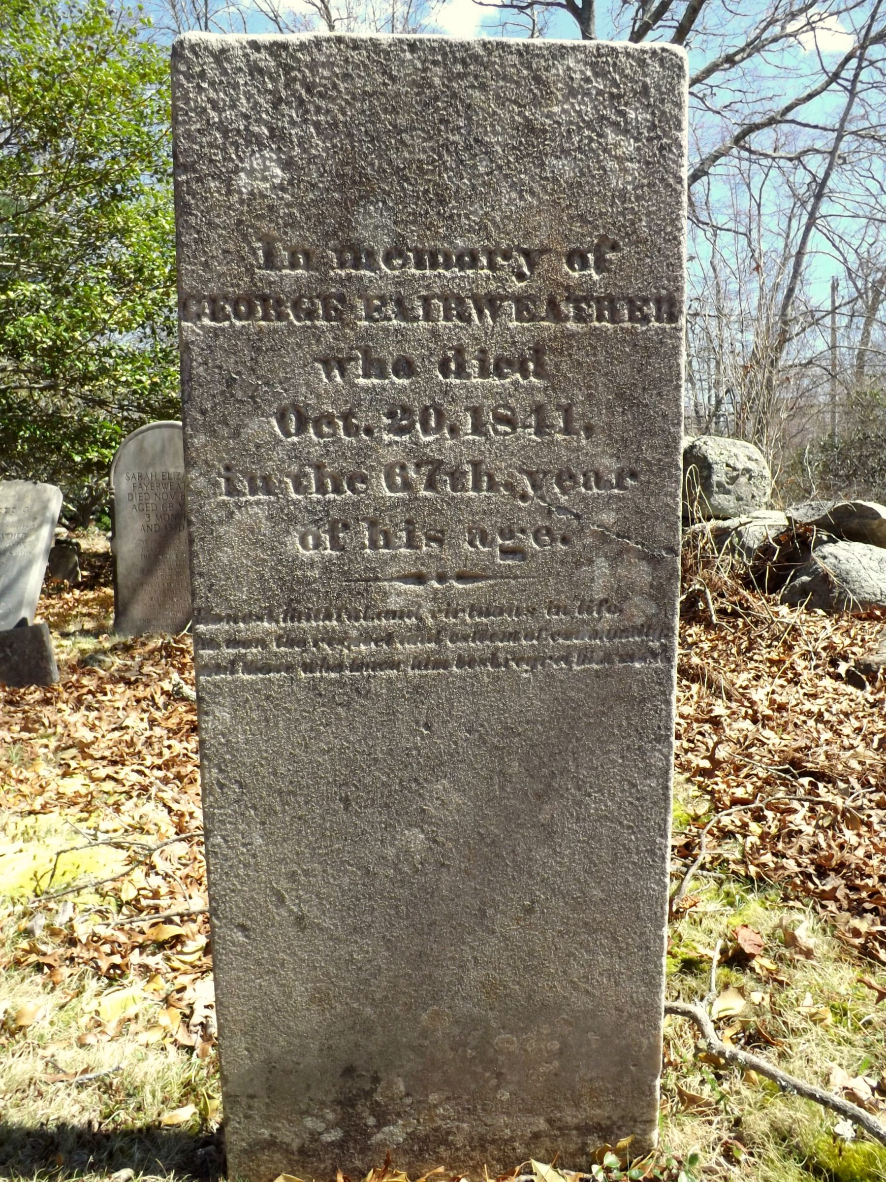 Gravesite of George Fayerweather II