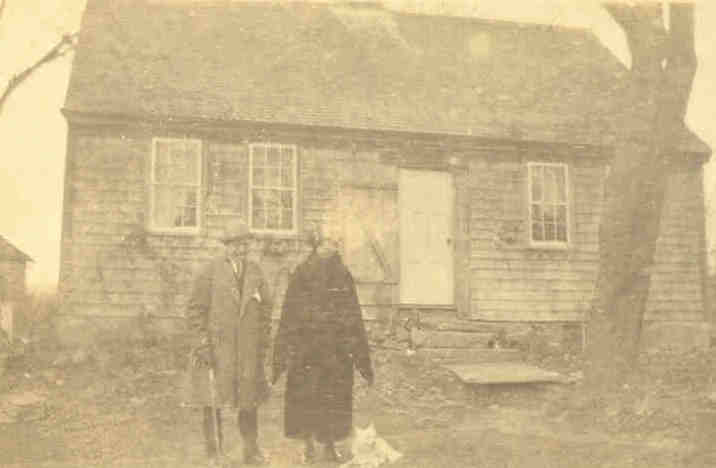 George and Marie Fayerweather outside Fayerweather House Christmas 1923