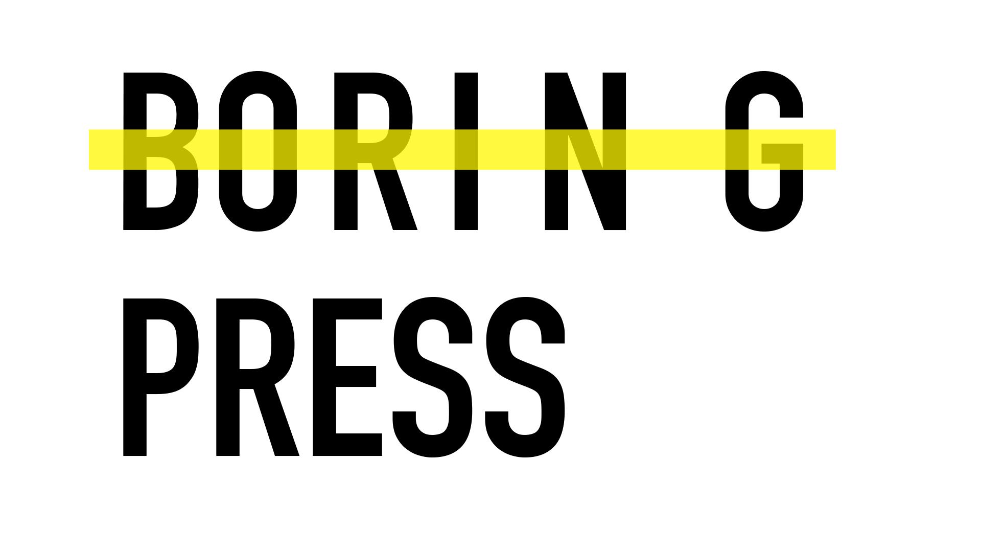 boring press