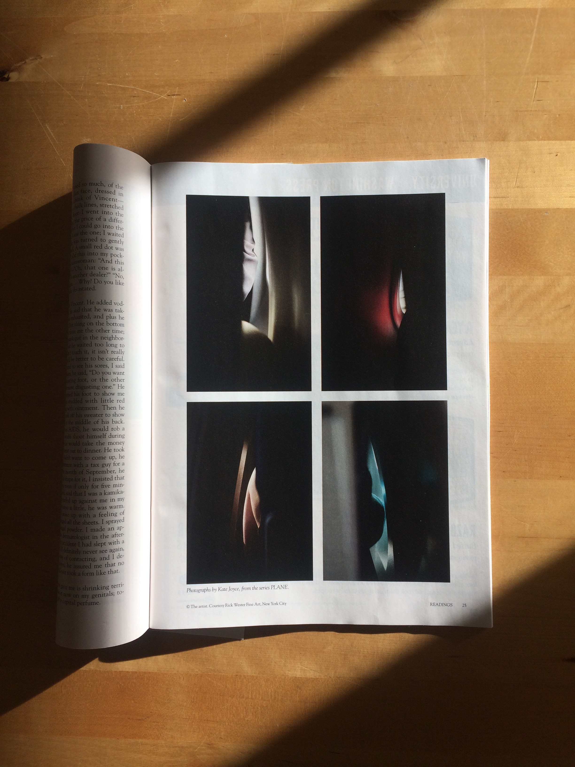 """ PLANE "", selected photographs,    Harper's Magazine    , Readings,  June 2017 Issue"