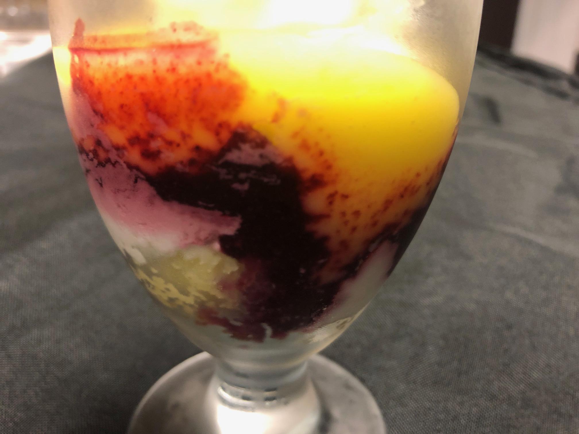 Dessert Course: Lemon Raspberry Trifle