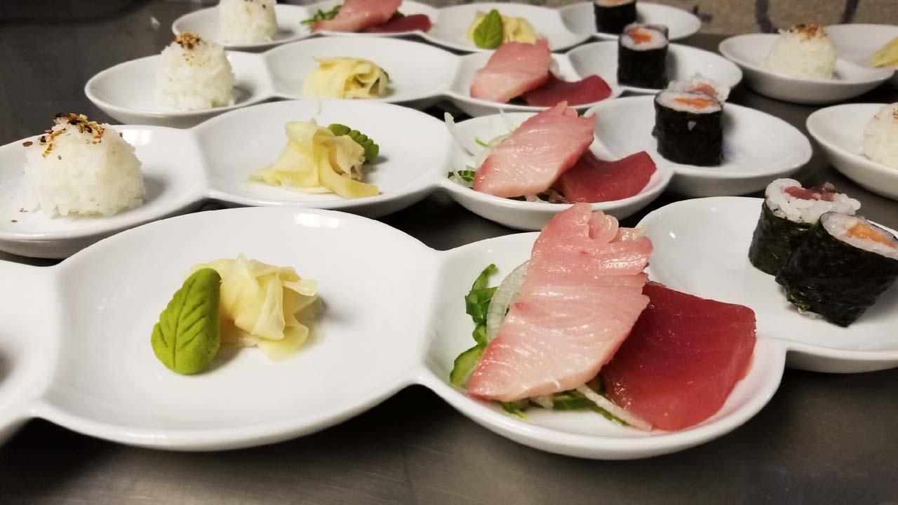 1st Course: Sushi and Sashimi